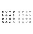 set of attention information and caution icons vector image
