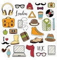 set of graphic elements hipster accessories vector image vector image
