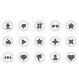 set of update icon for social network vector image