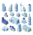skyscraper building and business office vector image