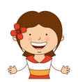 spanish girl character icon vector image