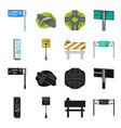 stands and signs and other web icon in black vector image vector image