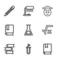 study icons vector image vector image