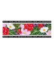 t-shirt print with flowers and black ribbons vector image vector image