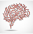 technological brain vector image vector image