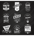 Thank You Chalkboard Signs vector image vector image