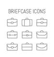 vector briefcase icons vector image