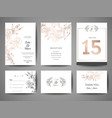 wedding save the date invitation cards collection vector image