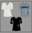 White grey black t-shirt oversize fashion