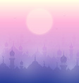 Sunset landscape wallpaper with mosques vector image