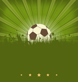 Vintage football card with ball in grass vector image