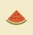 a slice of watermelon stylized icon vector image