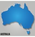 map of Australia continent country vector image