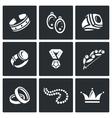 Bijouterie icons set vector image