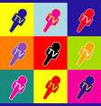 tv microphone sign pop-art vector image