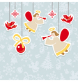 abstract christmas ornate cute card vector image