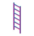 abstract ladder icon isometric style vector image
