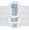 Back to School paper Labels with Ribbons Set vector image vector image