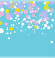 background with colorful flowers vector image