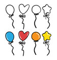 balloon hand draw vector image