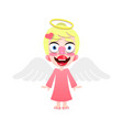 beautiful cute little angel with a smile on his vector image vector image