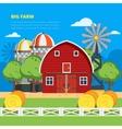 Big Farm Flat Composition vector image