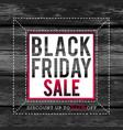 black friday sale banner on wooden background vector image vector image