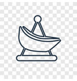 boat concept linear icon isolated on transparent vector image