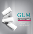 Chewing gum isolated on a gray background vector image