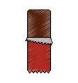 chocolate bar snack sweet open vector image vector image
