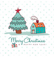 christmas and new year cozy holiday home cartoon vector image vector image