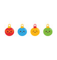 christmas ball characters icons vector image vector image