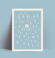christmas card or poster design template with vector image