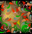 colorful floral paisley seamless pattern vector image vector image