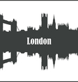 Contour of the city of London vector image vector image