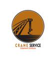 crane service logo vector image vector image