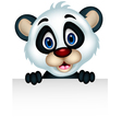 cute Baby panda holding blank sign vector image vector image