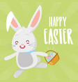 cute rabbit eggs easter vector image