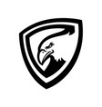 eagle logo black and white vector image vector image