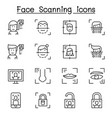 face scanning face recognition and biometric vector image vector image