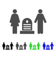 family cemetery flat icon vector image vector image