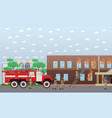 fire in the house in flat vector image