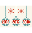 French retro New Year 2016 -2018 design elements vector image vector image