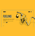 fueling stations network website template vector image vector image