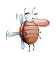 funny cute cockroach ladybug - cartoon vector image