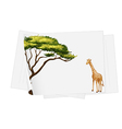 giraffe paper template vector image vector image