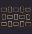 golden art deco line frames vector image vector image