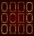 golden calligraphic ornamental frames vector image vector image
