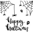 happy halloween text banner cute card design vector image vector image