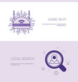 home wifi and local search concept template web vector image